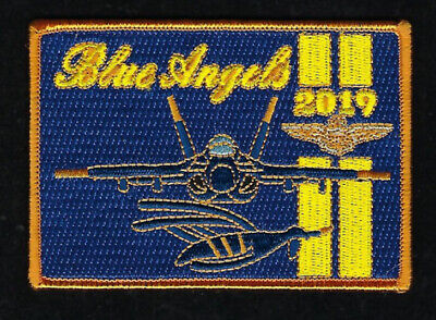 Blue Angels 2019 Hat Patch F-18 Hornet Us Navy Marines Pin Up Wing Airshow Br