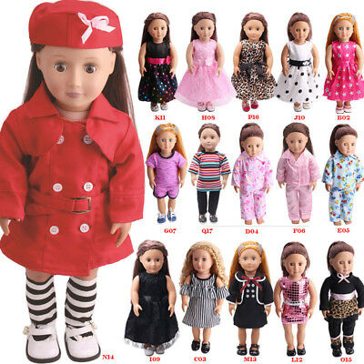 "For 18"" American Girl Our Generation My Life Dolls Clothes Dress Pajamas"