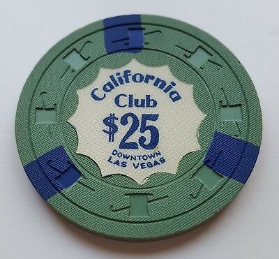$25 Las Vegas California Club Casino Chip - Near Mint