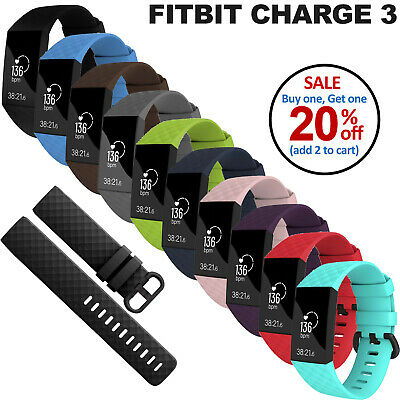 Silicone Sports Soft Watch Band Silicone Strap Bracelet For Fitbit Charge 3
