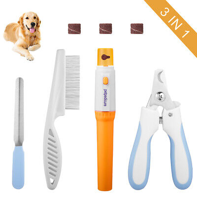 Pet Nail Grooming Set Contain pet Nail Clippers &Pet Nail Grinder for Dog &Cat
