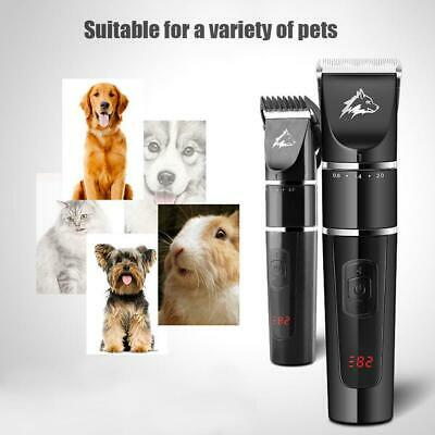 Pet Dog Cat Hair Clipper Electric Trimmer Rechargeable Professional Grooming Set