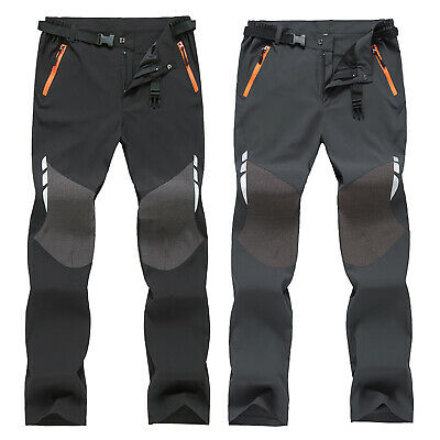 Mens Windproof Waterproof Trekking Pants Cargo Combat Work Hiking Sport Trousers
