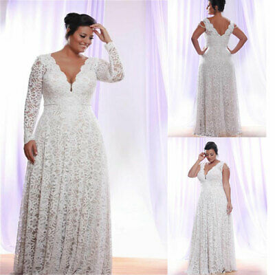 a9497aaa7c Plus Size Wedding Dresses Detachable Long Sleeves Bridal Ball Gowns Full  Lace