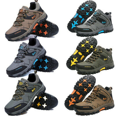 Mens Hiking Boots Walking Ankle Hi Tops Trail Trekking Trainers Shoes Size 5-12