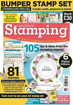 Creative Stamping Magazine 73 with Let's Make Plans Journaling Stamp Set