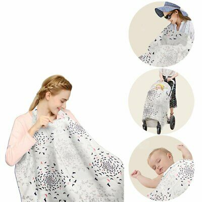 Nursing Cover, Breastfeeding Cover 100% Natural Soft Cotton Seamless Breathable