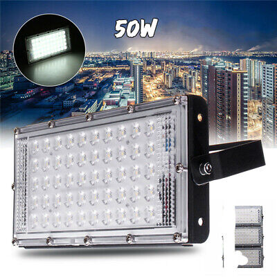 50W LED Flood Light Spot Outdoor Lamp White Light Waterproof Garden Landscape