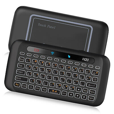 H20 backlight mini wireless keyboard with touchpad for android tv box