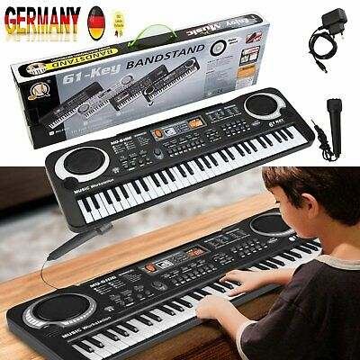 Digital 61 Tasten Keyboard E-Piano Klavier 16 Sounds & Rhythmen Lernfunktion DE