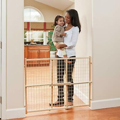 "Evenflo Position and Lock Tall Pressure Mount Wood Gate (expands 31""- 50"")"