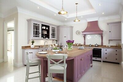 35% OFF RRP Bespoke Solid Wood Painted Ex Display Kitchen with Appliances