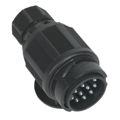 Towing Plug 13-Pin Euro Plastic 12V Twin Inlet | SEALEY TB54 by Sealey | New