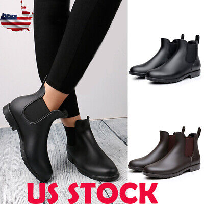 5d8eb3f7e25 WOMEN MAN NEUTRAL Short Rain Boots Waterproof Slip On Ankel Chelsea ...