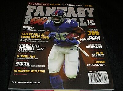 PRO FORECAST  2019 Fantasy Football magazine   144 pages  300 players