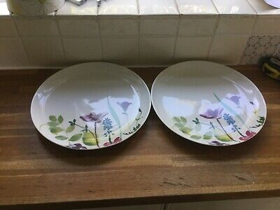 Portmeirion Water Garden Dinner Plates X2 BRAND NEW