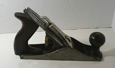 Vtg Stanley Bailey No. 3 Smooth Bottom Bench Plane Type 16 USA Woodworking Tool