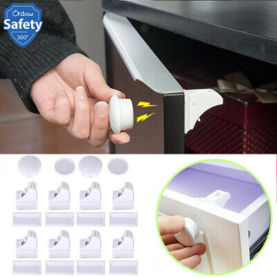 Safety Magnetic Baby Child Cabinet Locks Cupboard Drawer Proof Lock Invisible