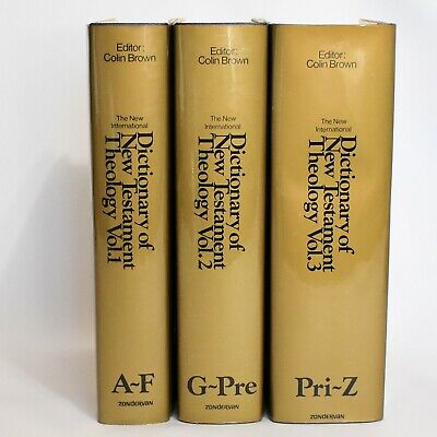 Dictionary of New Testament Theology 3 Volume Set Hardcover Dust Jacket 1979