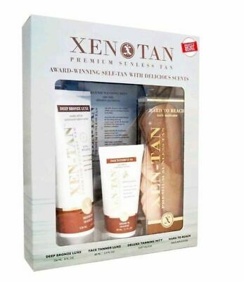 XEN TAN Premium Sunless Tan 4 Piece Gift Kit - Deep Bronze *  BRAND NEW *