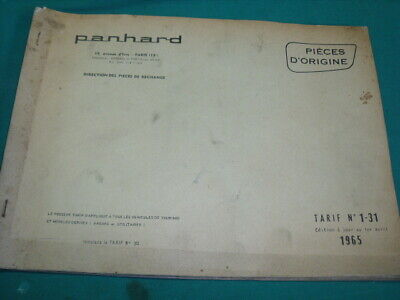 Panhard Dyna Pl17 Brochure 31 References Tarifs Des Pieces Detachees 1965