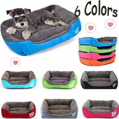 Soft Cushion Washable Puppy Pet Kennel Mat Blanket Pad Large Dog House Cat Bed