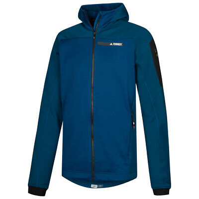 NEW ADIDAS TERREX Stockhorn Hooded Fleece Performance Jacket