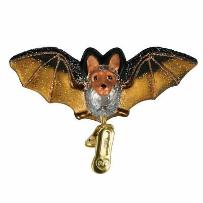 Old World Christmas Clip-on Bat Glass Halloween Ornament 12308 FREE BOX