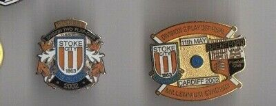 STOKE CITY Bristol City Div 2 PlayOffs winners 2002 badge Pin Rare enamel