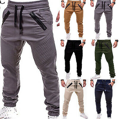 Mens Cargo Sports Jogging Training Sweat Pants Casual Trousers Tracksuit Joggers