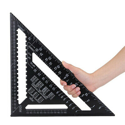 """12"""" Triangle Roofing Speed Rafter Angle Square Measure Guide Aluminium 300Mm Uk"""