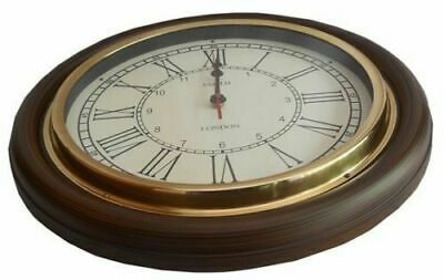 "NAUTICAL 16"" SMITH LONDON WALL CLOCK WITH RING replica"