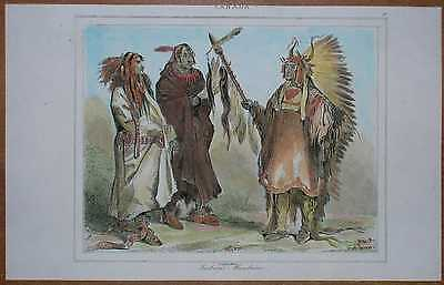 Buffalo Bison Dance Of The Mandan Indians Painting 8x10 Real Canvas Art Print