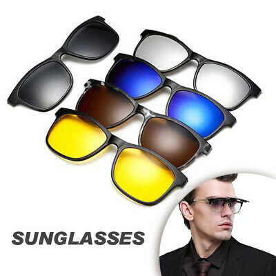 Men Polarized Driving Clip-on Night Vision Sunglasses Flip-up Lens UV400 Glasses