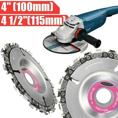 "Grinder Disc Chain Plat Grinding Wheel Disc 4"" Tooth Cut Carving Chainsaw Blade"