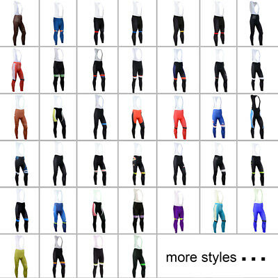 Team Brand Men's Cycling Bib Pants Sports Bike Tights Riding 3D Padded Bicycle