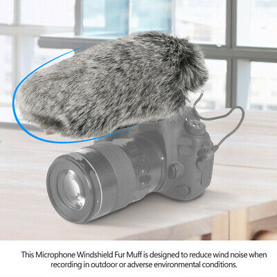 Windproof Windshield Wind Muff for Rode Videomic Video Microphone for Recording