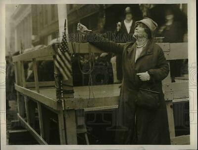 1930 Press Photo Miss Edna Worrell Great Great Grand Niece Of Betsy Ross
