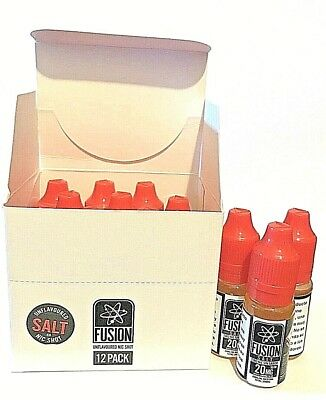 Nicokits Halo SALT NIC Fusion 20mg 10ml 50/50 (12 Botellas) Nicotina Vaper Vapor