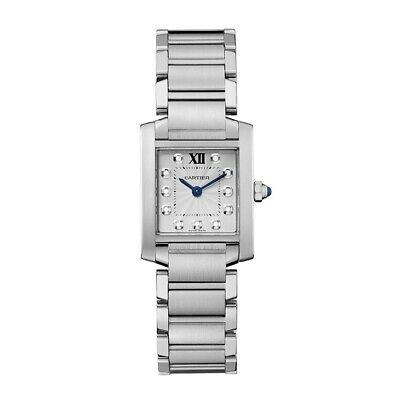 NEW Cartier Tank Francaise Silver Dial Stainless Steel Ladies Watch Ref WE110006