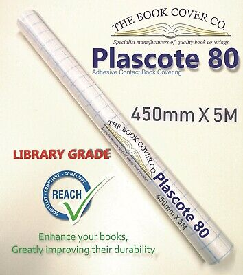 Book Covering - Plascote Adhesive Contact Film 450 X 5M Gloss Library Grade