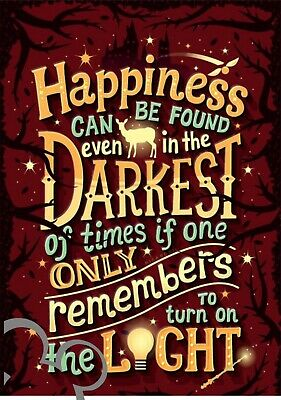 Disney Harry Potter quote art print A4, poster, picture, nursery, gift,