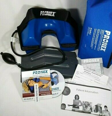 "PRONEX Pneumatic Cervical Traction System Size ""R"" Regular Good Condition"