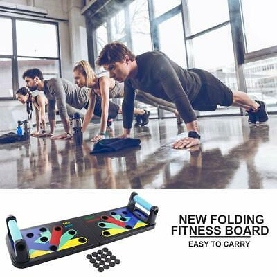 Push Up Rack Board System Fitness Workout Train Gym Exercise Body Stands