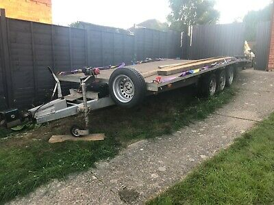 Brenderup 3500kg tri axle trailer 19ft 6 inch bed