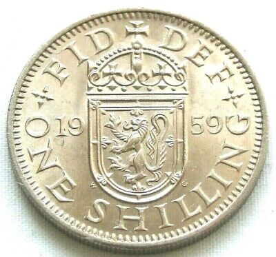 1959 Scottish Shilling - Truly Stunning Coin, Rare Date - FREE POSTAGE (18D)