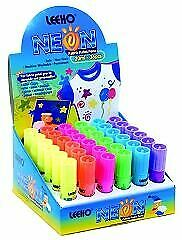 Leeho UG15 | Permanent Neon Fabric/Textile Paint Pen | 20ml | Box of 36