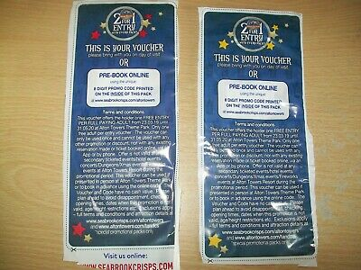 2 for 1 Alton Towers Code or Voucher x2 Valid Until 31/05/2020