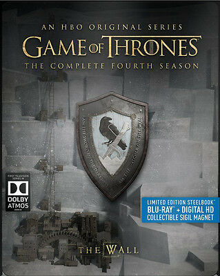 Game Of Thrones: The Complete Fourth Season - 4 DISC SET (2016, Blu-ray New)