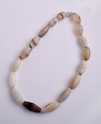 Antique banded agate beads stone Necklace